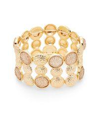 Carol Dauplaise - Metallic Day Glow Radiant Wide Stretch Bracelet - Lyst