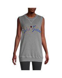 Dolce & Gabbana Gray Sweatshirt Tank