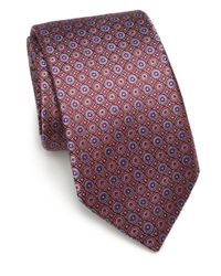 Saks Fifth Avenue - Red Circle Silk Tie for Men - Lyst