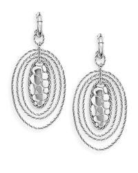 John Hardy Metallic Sterling Silver Oval Drop Earrings