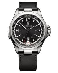 Victorinox Gray Mens Nightvision Stainless Steel Watch for men