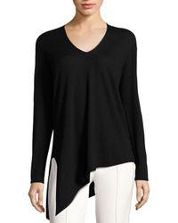 ESCADA Black Serno Asymmetrical Cashmere Sweater