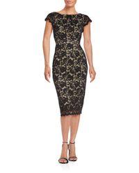 Abs By Allen Schwartz Floral Lace Sheath Dress In Black Lyst