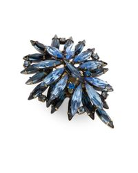 DANNIJO Blue Bella Clustered Marquis Ring