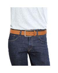 Roberto Cavalli Brown Tapered Edge Leather Belt for men