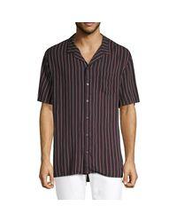 Zanerobe Black Striped Short-sleeve Shirt for men