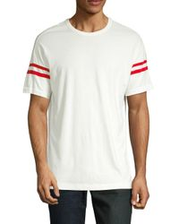 French Connection White Short Sleeve Slim Fit Solid Color Crew Neck Cotton T-shirt for men