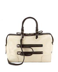 Valentino White Top Handle Light Ivory Shoulder Bag