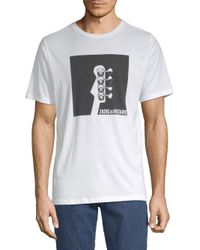 Zadig & Voltaire White Tommy Guitar Cotton Tee for men