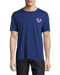 True Religion - Blue Buddha Logo Cotton T-shirt for Men - Lyst
