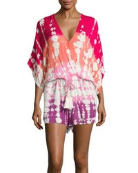 Young Fabulous & Broke Multicolor Ashley Printed Short Jumpsuit