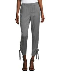 Saks Fifth Avenue Gray Lace-up Jogger Pants