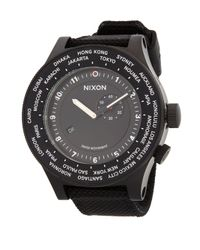 Nixon Black Stainless Steel Textured Strap Watch for men