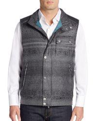 Robert Graham - Gray Classic-fit Laconia Mixed-plaid Vest - Lyst