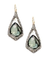Alexis Bittar Metallic Miss Havisham Quartz & Hematite Doublet Drop Earrings