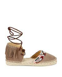Manebí Brown Valenciana Flat Suede Espadrille Sandals
