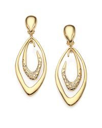 Alexis Bittar   Metallic Swarovski Crystal Liquid Marquis Clip-on Drop Earrings   Lyst