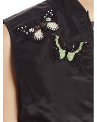 Cinq À Sept Black Kingston Embellished Bomber Vest