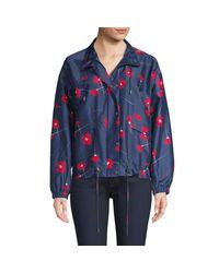 Parker Blue Hollis Floral Print Windbreaker Jacket