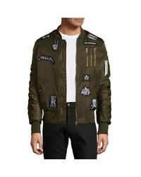 American Stitch Green Patch Bomber Jacket for men