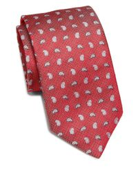 Saks Fifth Avenue - Red Paisley Print Silk Tie for Men - Lyst