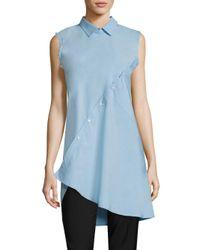 Each x Other Black Asymmetrical Cotton Poplin Shirt