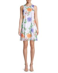 Calvin Klein Multicolor Floral Mini Shift Dress