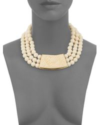 Heidi Daus - Metallic Natural Beauty Three-row Necklace - Lyst