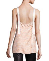 Helmut Lang - Pink Floral Printed Silk Top - Lyst