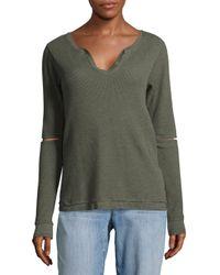 Joe's - Green Thermal Rib-knit Top - Lyst