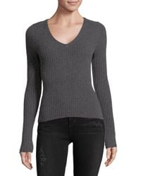 Naked Cashmere Gray V-neck Fitted Cashmere Sweater
