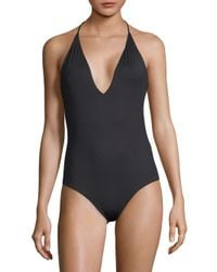 Onia Black One-piece Nina Halter Swimsuit