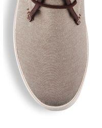 Original Penguin Natural Blaire Lace-up Flatform Sneakers for men