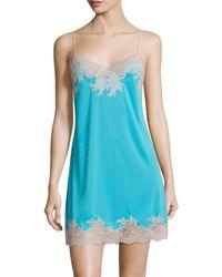 Natori Blue Enchant Lace Chemise