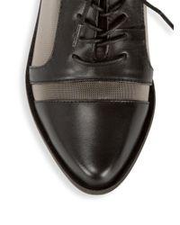 Kelsi Dagger Brooklyn Black Astoria Leather Oxfords for men