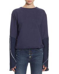 Each x Other Blue Bell Sleeve Cotton Sweatshirt