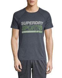 Superdry Blue Sport Tech T-shirt for men