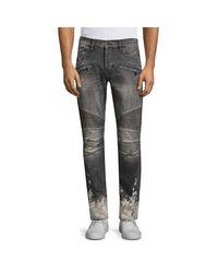 Hudson Gray The Blinder Spray Biker Jeans for men