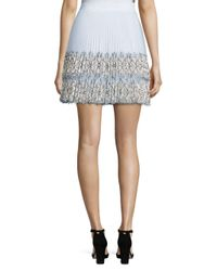 Christopher Kane White Layered Mini Skirt