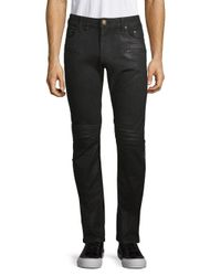 Robin's Jean Black Motard Moto Jeans for men