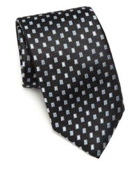 Saks Fifth Avenue - Black Floating Squares Silk Tie for Men - Lyst