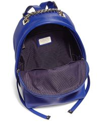Furla Blue Spy Mini Leather Backpack