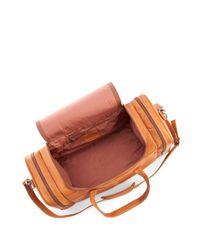 Royce Brown Leather Luxury Overnight Duffel Bag