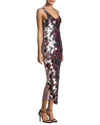 Diane von Furstenberg Multicolor Sequin Sleeveless Sheath Dress