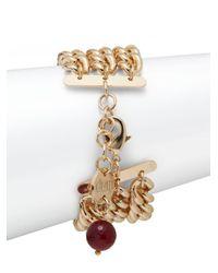 1ar - Metallic Three-row Curb Chain Bracelet - Lyst