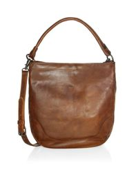 Frye Brown Melissa Hobo (lilac) Hobo Handbags