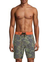 Tavik Green Highland Self-tie Poolshorts for men