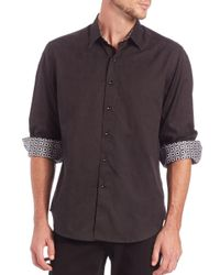 Robert Graham White Cullen Cotton Button-down Shirt for men