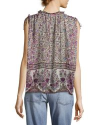 Zadig & Voltaire Purple Thym Print Blouse