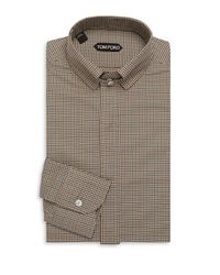 Tom Ford - Brown Concealed Cotton Dress Shirt for Men - Lyst